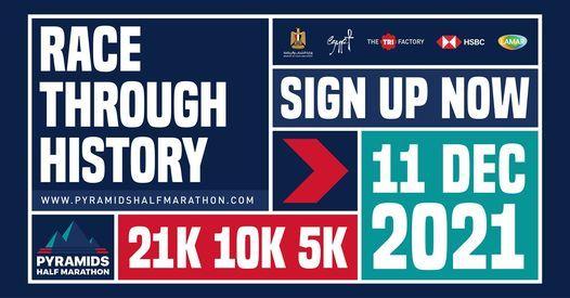 Pyramids Half Marathon 2021, 11 December | Event in Helwan | AllEvents.in