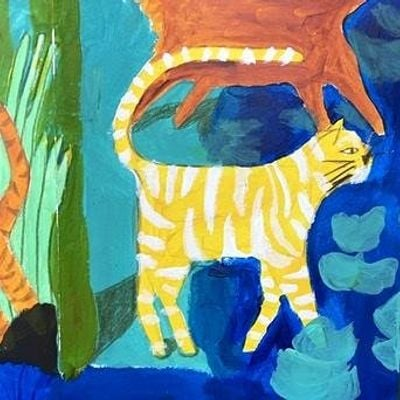 PAINTING FOR KIDS Cats and Jungle