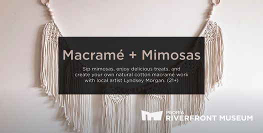 Macram  Mimosas  Wall Banner - SOLD OUT