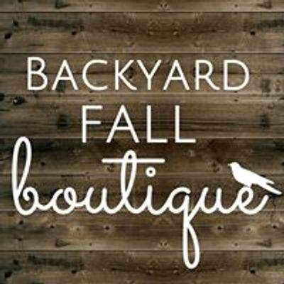 Backyard Fall Boutique