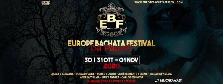 Europe Bachata Festival 30-31-1 October 2020 Un evento da PAURA