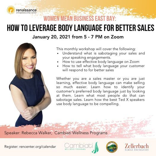 Women Mean Business: How to Leverage Body Language for Better Sales, 21 January | Online Event | AllEvents.in