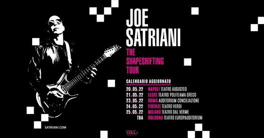 Joe Satriani at Teatro Augusteo - Napoli, 21 May | Event in Naples | AllEvents.in