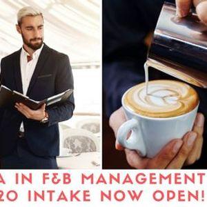 Diploma in F&B Management November 2020 Intake