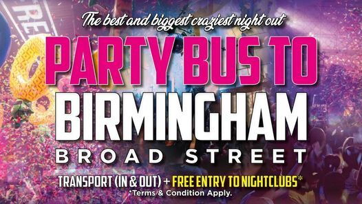 Party Bus |To the UK's most popular clubs | Event in Birmingham | AllEvents.in