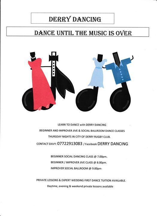 Adult Social Dancing Classes at City of Derry Rugby Club, Derry