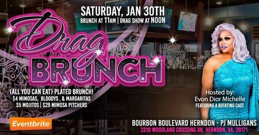 Drag Brunch on Bourbon Boulevard, 30 January | Event in Herndon | AllEvents.in