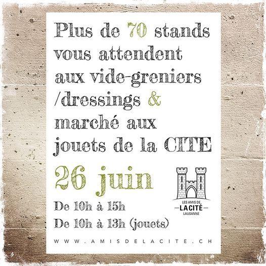 Vide-greniers de la Cité, 26 June | Event in Lausanne | AllEvents.in