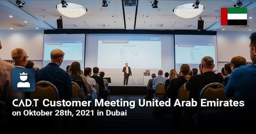 CAD+T Customer Meeting UAE, 28 October   Event in Dubai   AllEvents.in