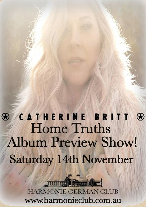 Catherine Britt Home Truths Album Preview Show!, 28 November | Event in Narrabundah | AllEvents.in