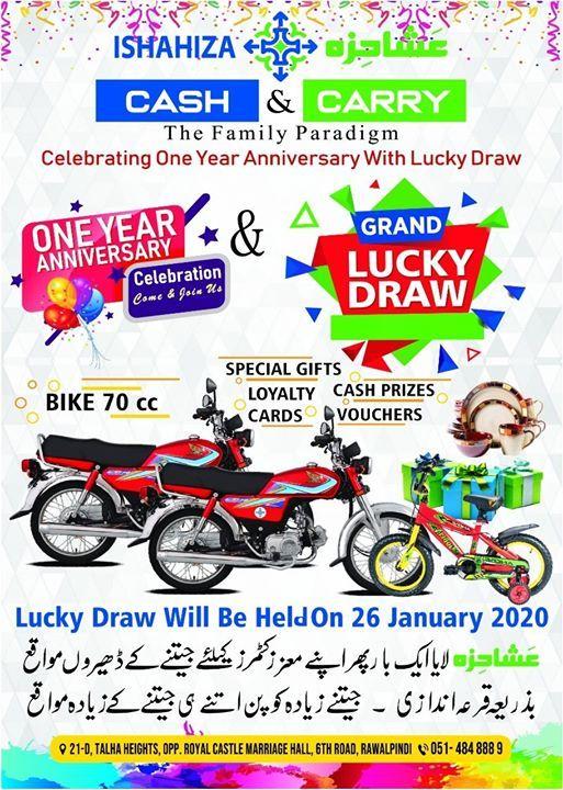 Grand Luck Draw on Ishahiza 1st Annual Anniversary