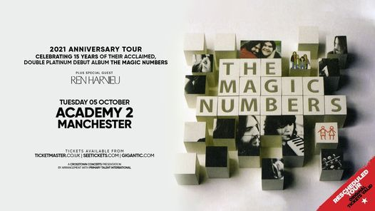 Rescheduled: The Magic Numbers at Academy 2, Manchester, 5 October | Event in Chester | AllEvents.in