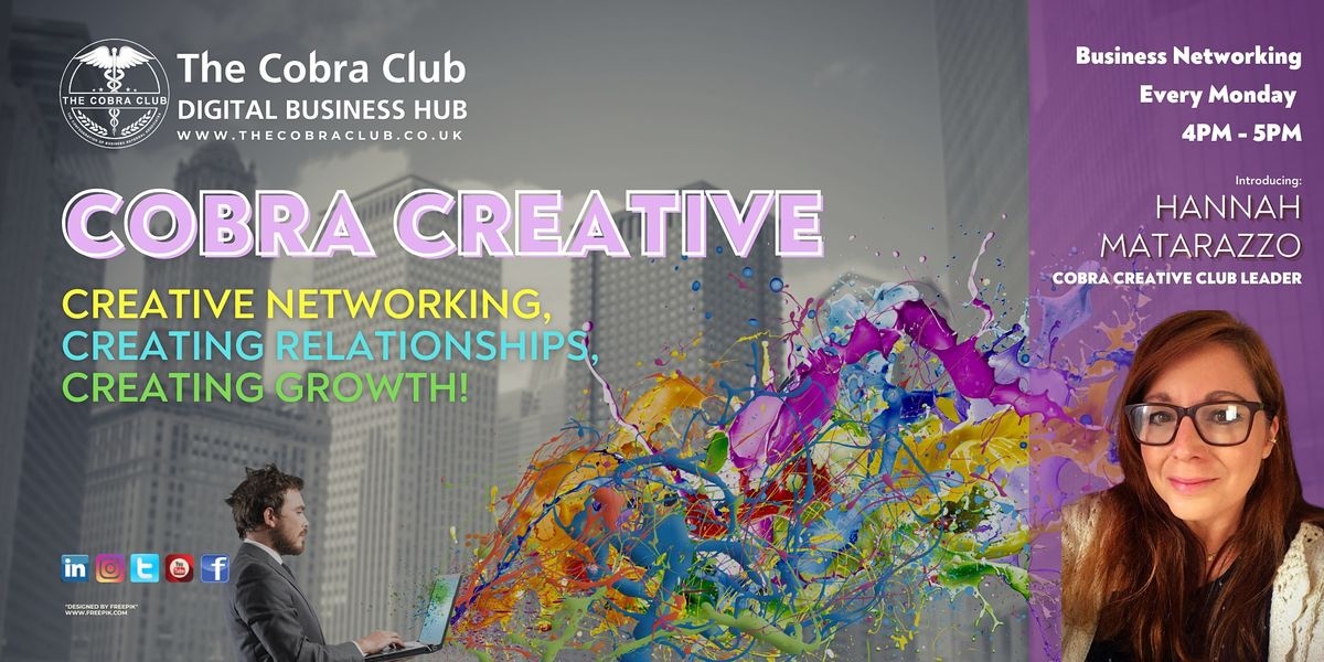 Cobra Creative - Business Networking Event - Gloucestershire, Cotswolds | Online Event | AllEvents.in