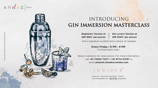 Gin Immersion Masterclass  Juniper Bar
