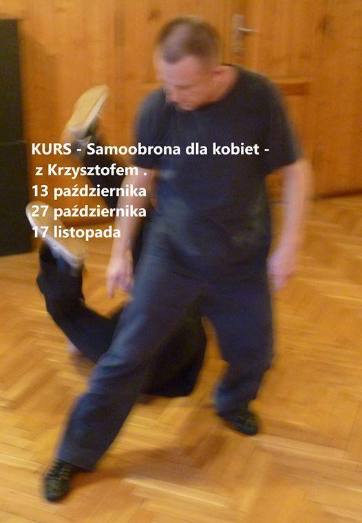 Warsztaty - Samoobrona dla kobiet - z Krzysztofem . 3 spotkania