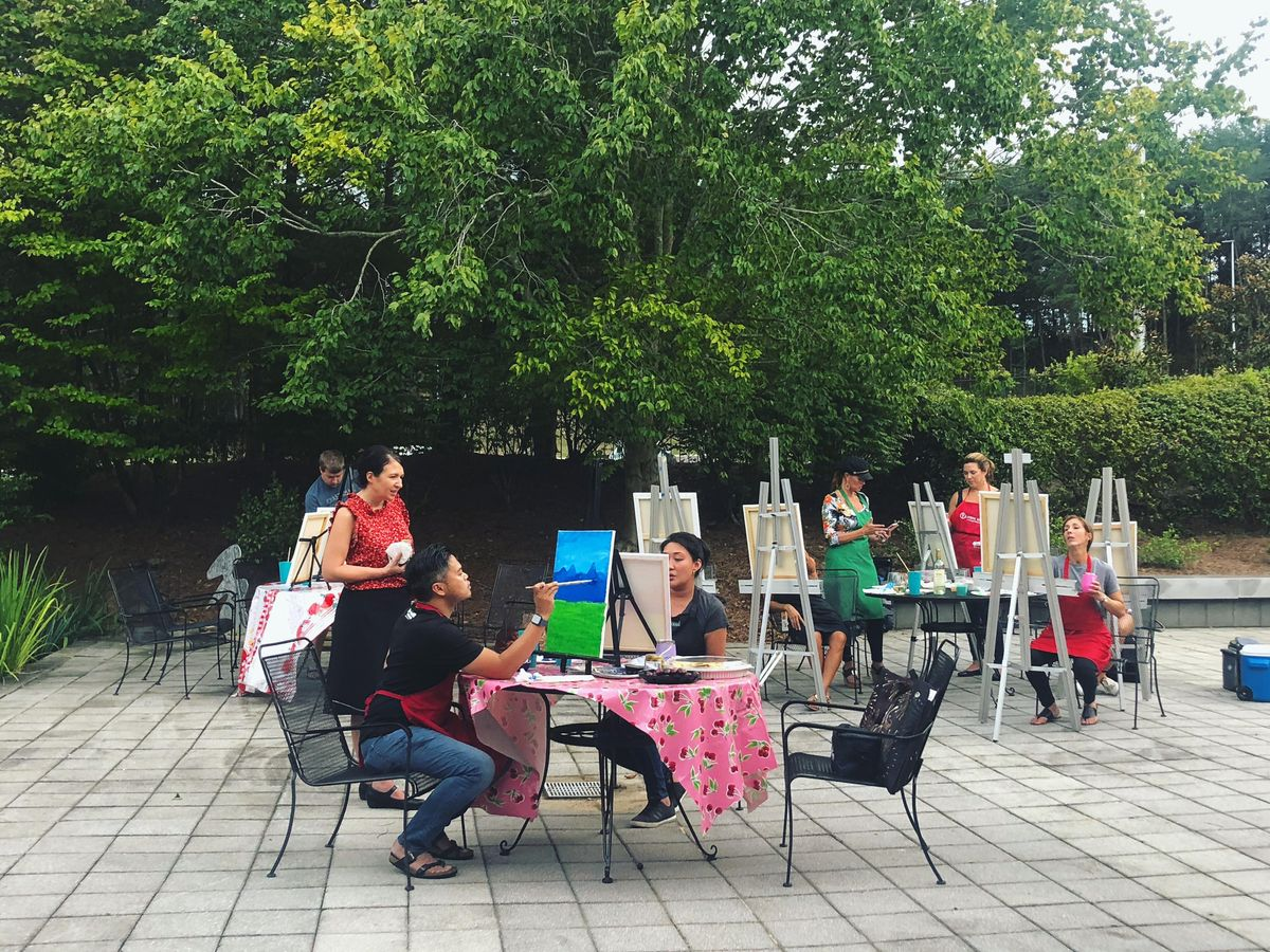 Patio Paint and Sip in The Hudgens' Sculpture Garden, 23 April | Event in Duluth | AllEvents.in