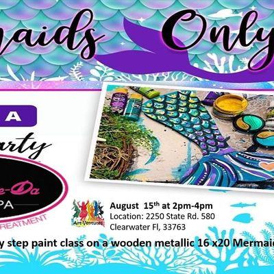 Paint a Mermaid Tail Party wPrincess Visit