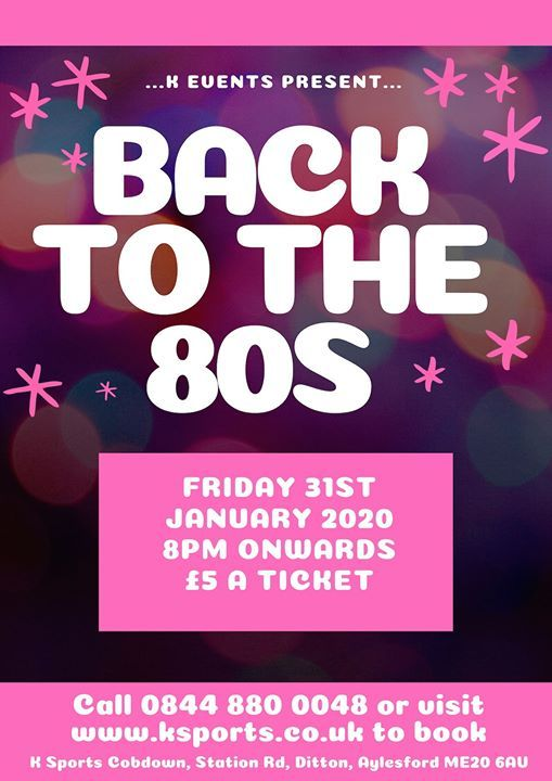 Updog Events 2020.Back To The 80s