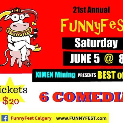 SATURDAY June 5  8 pm - BEST of the FEST - Dog Duck Pub - FUNNYFEST