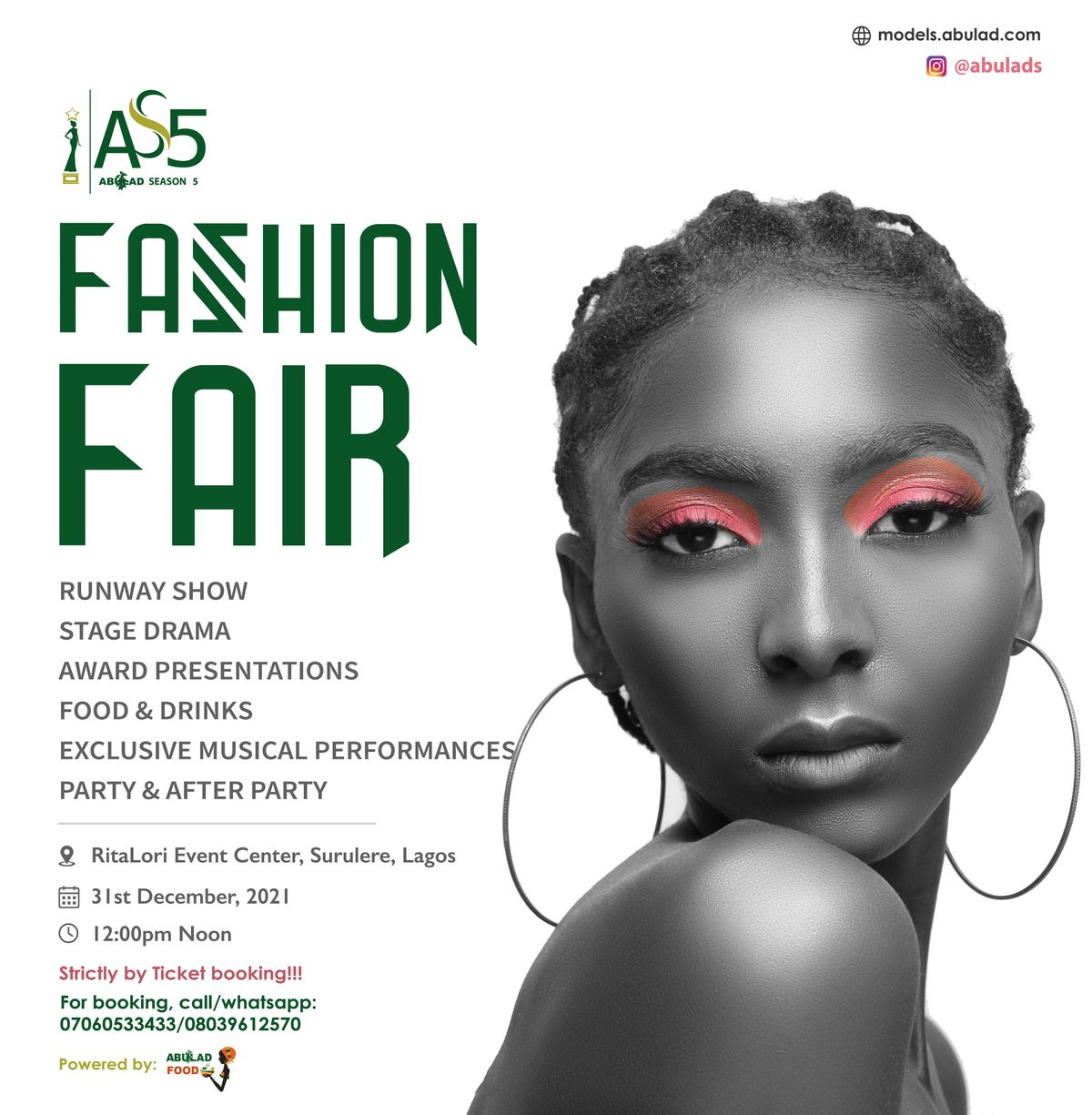 AS5 Fashion Fair - ABULAD Event, 31 December   Event in Lagos   AllEvents.in