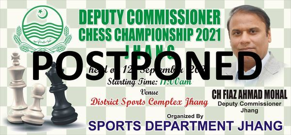 Deputy Commissioner Chess Championship 2021 Jhang, 24 October | Event in Chichawatni | AllEvents.in