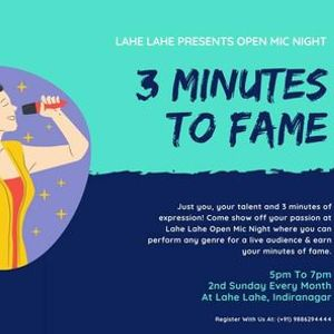 3 Minutes to Fame at Lahe Lahe