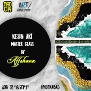 Resin Art Master Class Workshop by Affshana at Work Wild