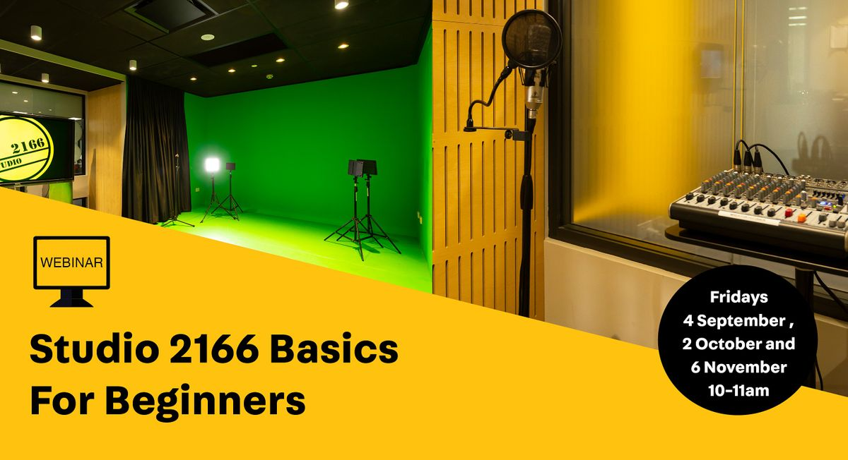 WEBINAR: Studio 2166 Basics for Beginners, 6 November | Online Event | AllEvents.in