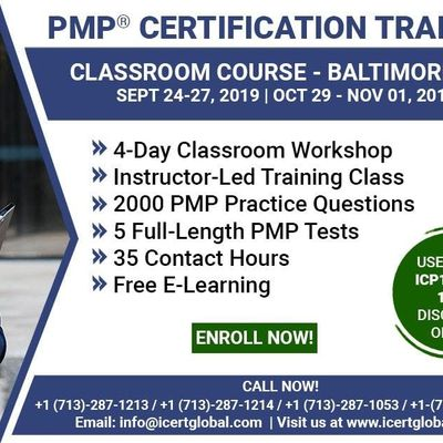 PMP Certification Training Course in Baltimore MD USA  4-Day PMP Boot Camp