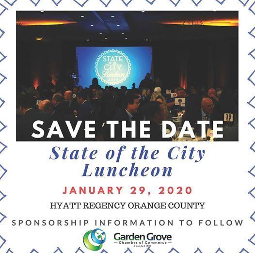 Events In Orange County January 2020.Garden Grove State Of The City 2020 At Hyatt Regency
