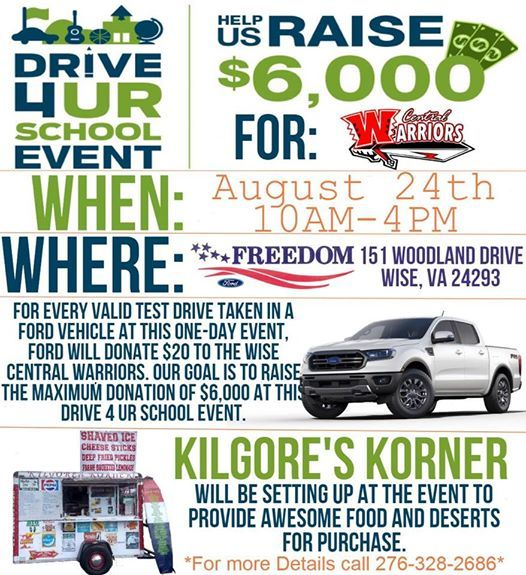 Freedom Ford Wise Va >> Drive 4ur School Event At Freedom Ford Lincoln Of Wise Va Wise