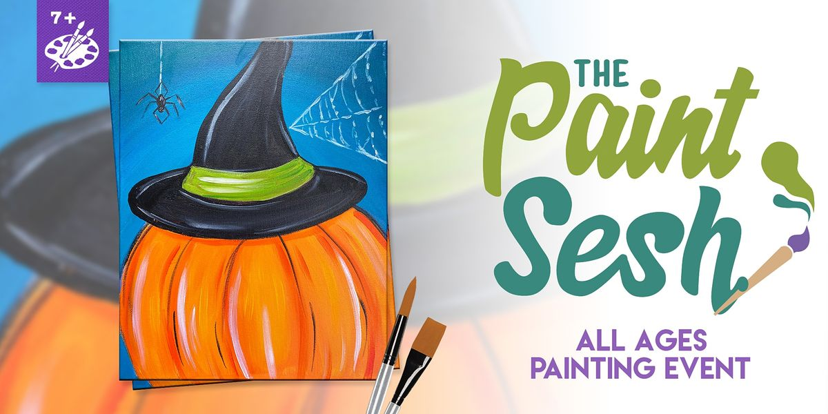 """All Ages Painting Event in Downtown Riverside, CA – """"Witchy Pumpkin"""", 30 October 