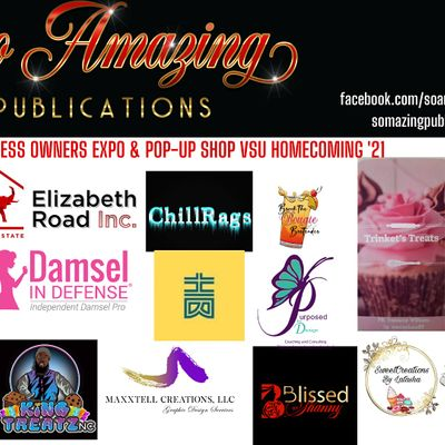 VSU Homecoming 2021 Author Expo & Business Owner Expo & Pop-Up Shop