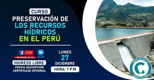 Curso Gratuito :Preservación de los Recursos Hídricos en el Perú, 27 December   Event in Lince   AllEvents.in
