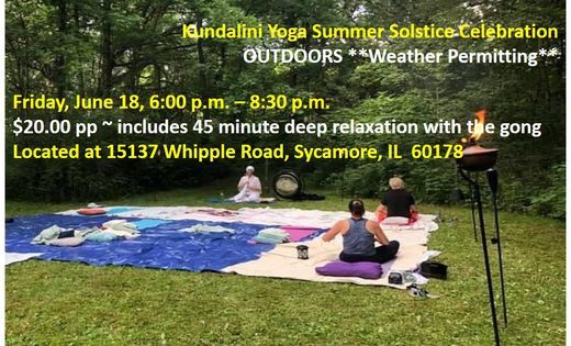 Summer Solstice Celebration ~ Kundalini Yoga Style, 18 June | Event in Sycamore | AllEvents.in