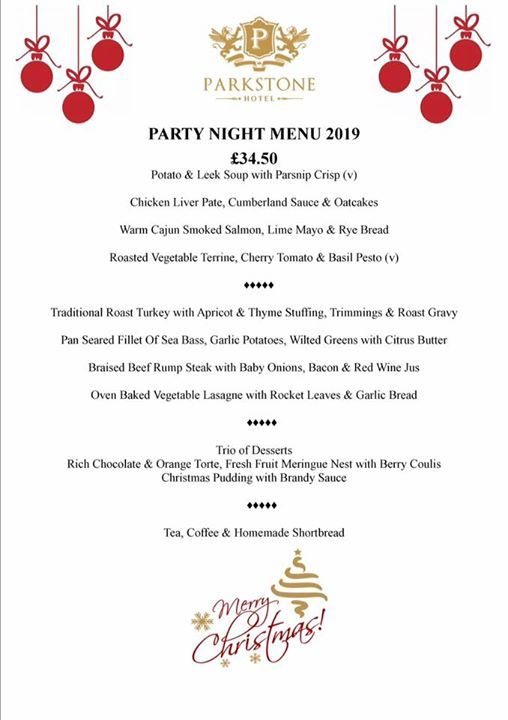Christmas Party Night 14th December 2019 34.50