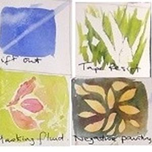 Negative watercolour painting with Mo Childs