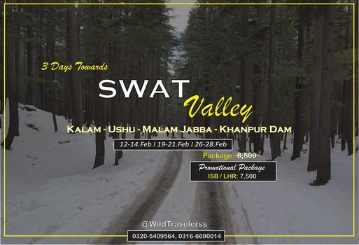 3 Day's Trip towards Swat, Kalam, Malam Jabba, Ushu and Khanpur Dam | Event in Islamabad | AllEvents.in