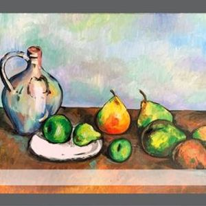 FREE Paint Night - tribute to Paul Cezanne Still life pitcher and fruit