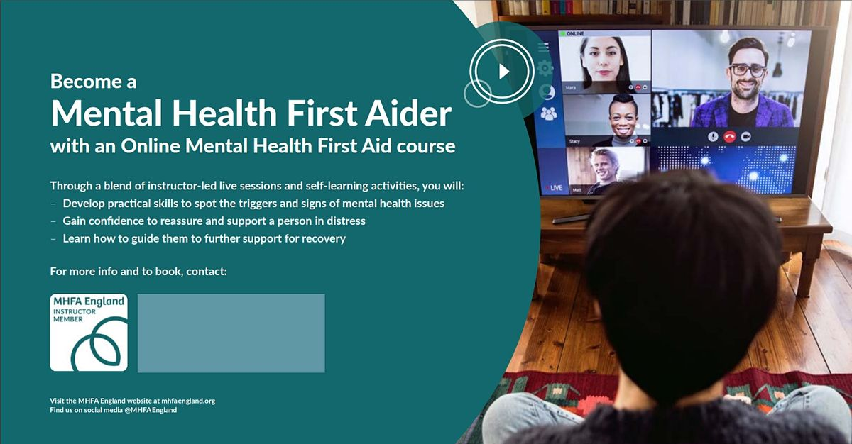 Mental Health First Aid 2 day ONLINE - Youth (Cheshire East Staff Only), 5 March | Online Event | AllEvents.in