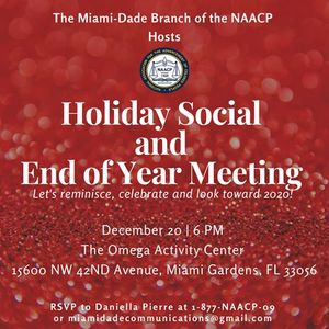 Annual Holiday Social and End of Year Meeting