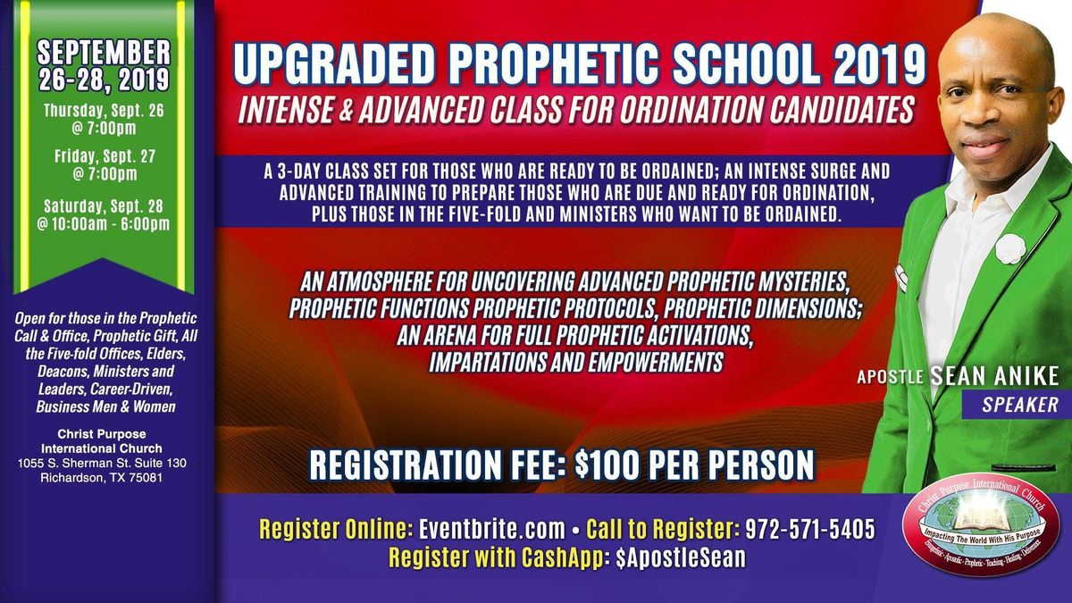 Upgraded Prophetic School [For Ordination Candidates]
