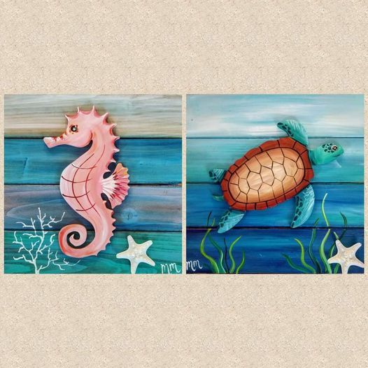 Seaturtle or Seahorse Pallet Paint Night | Event in West Palm Beach | AllEvents.in