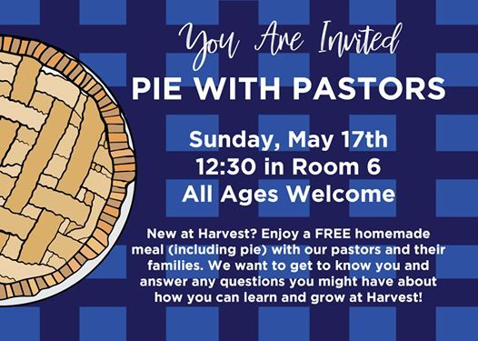 Pie with Pastors May 17th