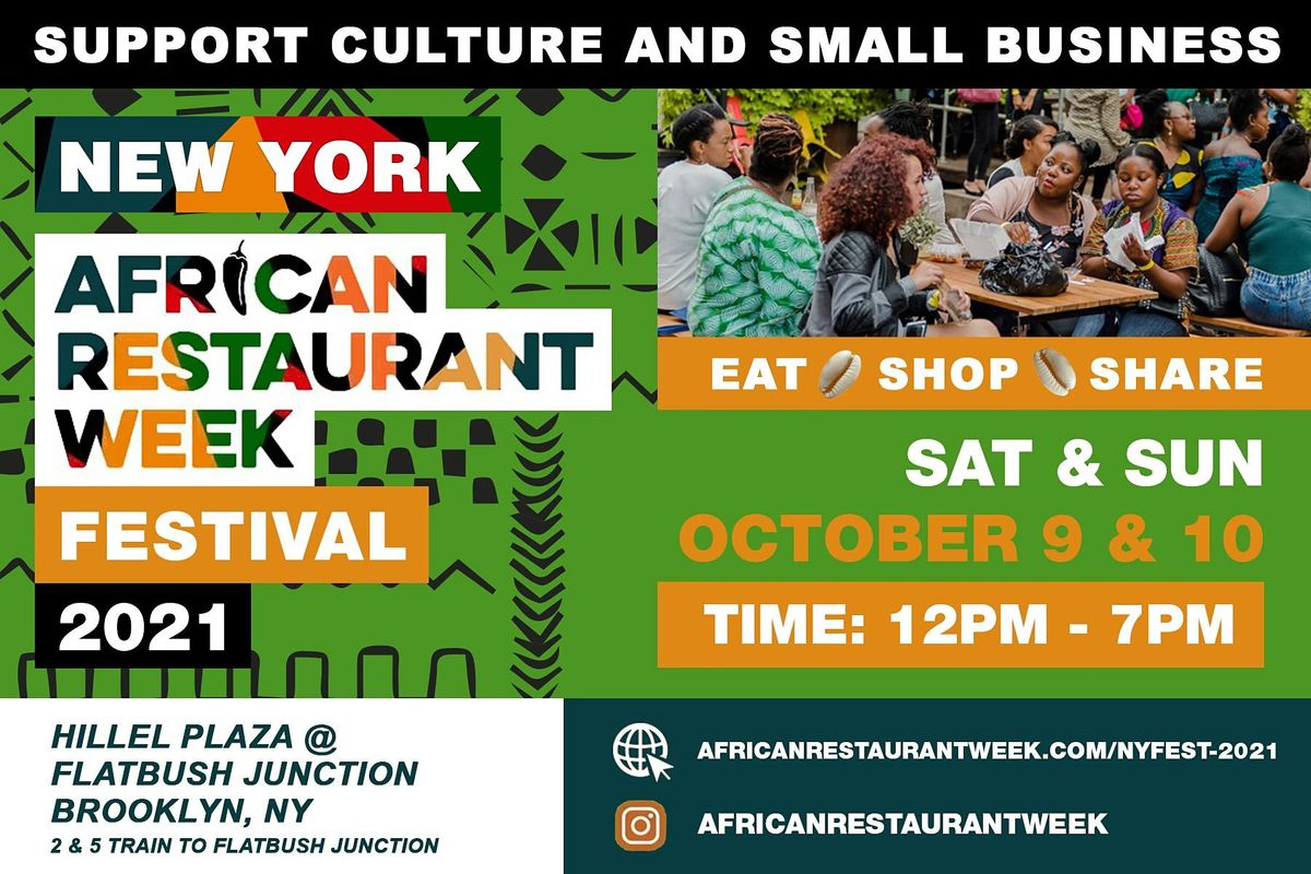 New York African Restaurant Week  Festival 2021, 9 October   Event in Brooklyn   AllEvents.in