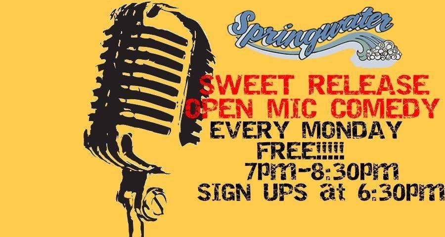 Sweet Release Open Mic Comedy Night - FREE