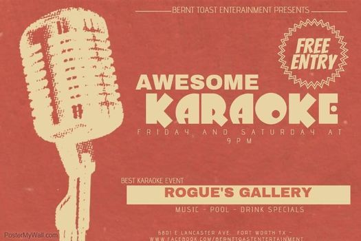 Karaoke Friday @ Rogues Gallery | Event in Arlington | AllEvents.in