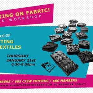Block Printing On Fabric Workshop