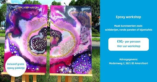 Resin Art workshop 21 September Amersfoort