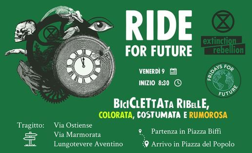 Ride For Future: Biciclettata Colorata, Costumata e Rumorosa, Fri Oct 09  2020 at 08:30 am